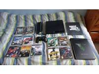 Sony PlayStation 3 PS3 slim 250gb with loads of games - GTA, NFS