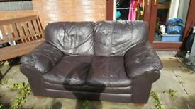 2 seats Leather Sofa free
