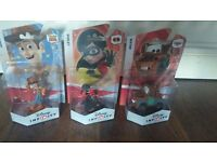 Disney Infinity Characters - Woody, Mater and Violet, Brand new and Sealed
