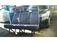 Ford transit Ldv convoy van minibus 3 Seater Seat with seat belts