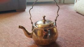 Vintage, Engraved Brass Teapot / Kettle, Excellent Condition