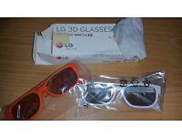 LG Cinema 3D Glasses AG-F200 2 Pairs bargain