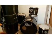 Pearl Export | Black | 4pc Drum Kit