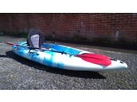Sit on kayak with seat and paddle