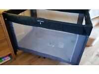 Mothercare Travel Cot/Play pen. Black/Grey. Good used condition.