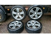"""4x 20"""" Range Rover/VW T5 Stormer Alloy Wheels - Nearly New Tyres - ONE PUNCTURED"""
