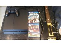 *Ps4 BUNDLE - 500GB console/1 controller/Far Cry 5/Pro Evo 2017/Guitar hero (guitar only)/HDMI Cable