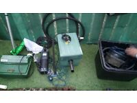 Fish pond filters and pumps