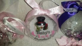 personalised christmas baubles takeing orders