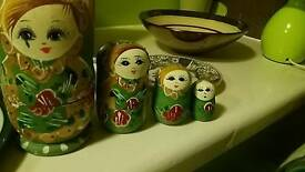 Russian doll set green