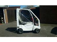 PRIDE RANGER HEAVY DUTY ON/OFF ROAD SCOOTER WITH NEAR NEW CANOPY