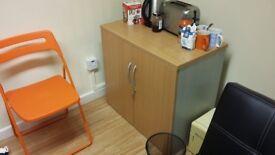 Office Cupboard Pale Wood Effect