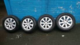 Vauxhall alloy wheels and tyres and nuts