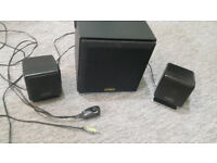 Speakers Stereo Sound System - Cambridge Soundworks SW320 Bass levels