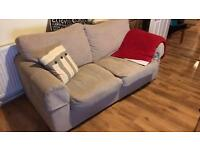 FREE!! Beige two seater sofa bed! Needs to be gone by tomorrow!