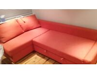 VILASUND IKEA sofa bed, coral red £200