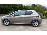 2013 peugeot 208 allure 1.2 only 16700 miles clio polo fiesta 207 golf mini