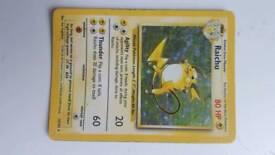 Pokemon Cards Rare Raichu Holo