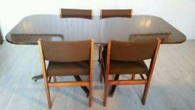 Oval Mahogany Dining Table and 4 Chairs
