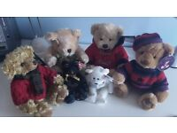 Assorted Harrods bears all with tags