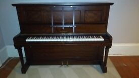 Piano, upright, original Broadwood, excellent condition.