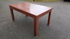 Dark Wood Veneer Dining Table 150cm FREE DELIVERY 804