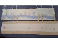 Cot bumpers excellent condition from mothercare