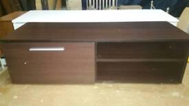 A brand new walnut effect finish 1 door 1 shelve tv unit.