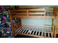 bunk bed Brazilian pinewood spindle (Melissa)free fitting