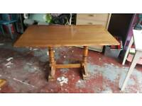 2 big solid oak pub tables