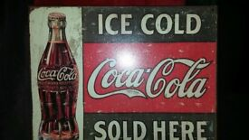Metal wall plaque - retro style coca cola ad