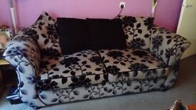3 seater sofa bed with unspoiled mattress. Made using top quality memory foam Also incl armchair