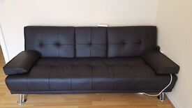 Leather Look Sofabed