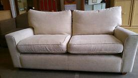Next cream 2 seater fabric sofa