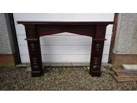Mahogany mantelpiece with marble fireplace