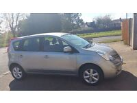 nissan note low miles