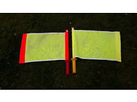 Pair of Linesmans flags