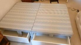 Double Bed Box Base with four drawers