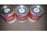 Gloss quick dry soft gray paint, 0.75 litres/ 5pound each if one needed