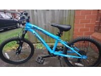 Blue mountain bicycle