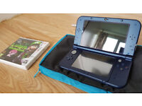New Nintendo 3DS XL (Metallic Blue) + 3 games + extra BAG *all Perfect condition!*