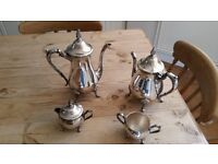 Quality Vintage Silver Plated 4pc Tea & Coffee Set by Viners of Sheffield