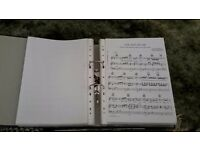 A4 lever arch file full of60 pieces of piano sheet music (details in ad)
