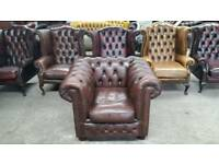 Stunning brown leather chesterfield club chair UK delivery CHESTERFIELD LOUNGE
