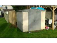 Large keter 8ft x 8ft plastic shed