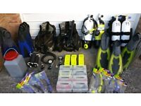 Due to Retirement, Bristol Diving School offers a large range of Diving and Snorkelling equipment.
