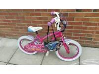 Girls 12 inch bike with helmet