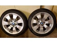 """BMW 3 series OEM Style 158 17"""" Wheels and Goodyear winter tyres E46/E90/E92 etc"""