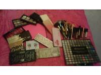 Palettes, lipsticks and brushes for sale