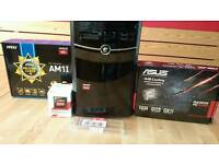 Desktop pc | AMD Athlon 5350 APU | AMD Radeon HD 6450 | 4gb Kingston HyperX Fury RAM